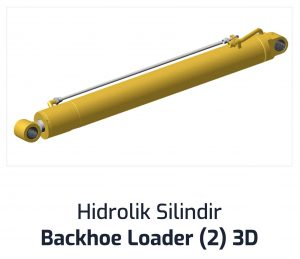 Hidrolik Silindir Backhoe Loader (2) 3D