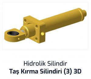 Hidrolik Silindir Tas Kırma Silindiri (3) 3D