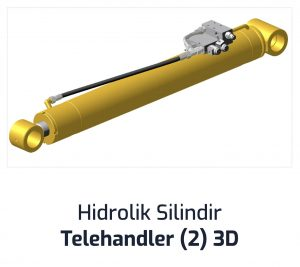 Hidrolik Silindir Telehandler (2) 3D