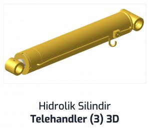 Hidrolik Silindir Telehandler (3) 3D
