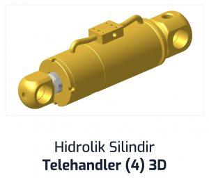 Hidrolik Silindir Telehandler (4) 3D