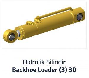 Hidrolik Silindir Backhoe Loader (3) 3D
