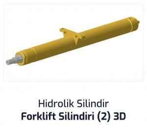Hidrolik Silindir Forklift Silindiri (2) 3D