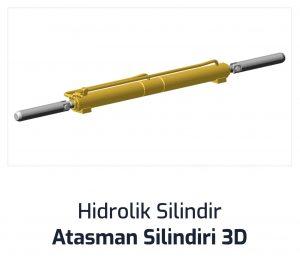 Hidrolik Silindir Atasman Silindiri 3D