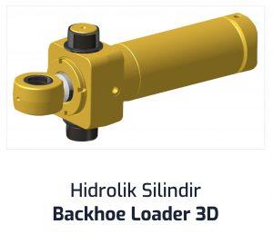 Hidrolik Silindir Backhoe Loader 3D