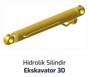 Hidrolik Silindir Ekskavator 3D