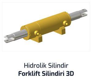Hidrolik Silindir Forklift Silindiri 3D