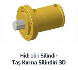 Hidrolik Silindir Taş Kırma Silindiri 3D