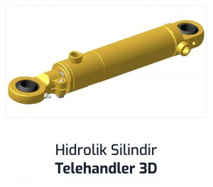 Hidrolik Silindir Telehandler 3D